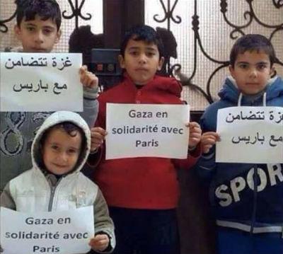 Solidariedade de Gaza a Paris
