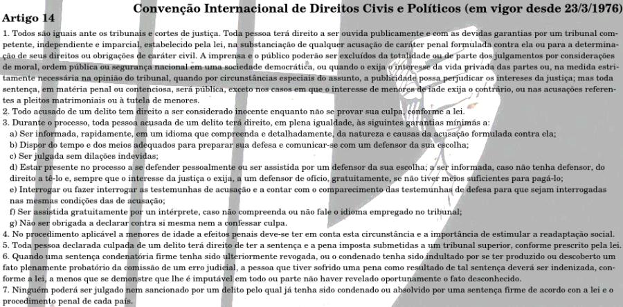 Artigo 14 Conv Direitos Civis e Polticos - Cebrapaz2